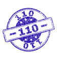 scratched textured 110 stamp seal vector image