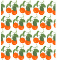 seamless pattern with tangerines vector image vector image