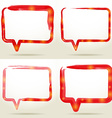 Set Blank empty white speech bubbles watercolor vector image vector image