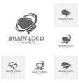 set of brain logo template brain logo concepts vector image vector image