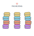 Set of isolated colorful doodle macaroon Sketch vector image vector image