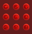 set red elements for ui game vector image vector image