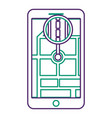 smartphone gps navigation road street vector image vector image