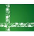 snowflakes ribbon banner christmas or new year vector image