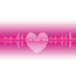 sound wave heart icon love song music signal vector image vector image