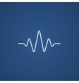 Sound wave line icon