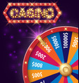 spinning fortune wheel internet casino banner vector image vector image