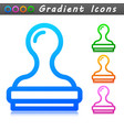 stamp symbol icon design vector image