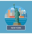 Statue of Liberty New York City vector image vector image