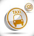 Taxi car icon vector image vector image