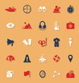 Waterway related classic color icons with shadow vector image vector image