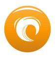 wave blue icon orange vector image vector image