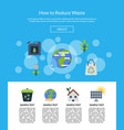with ecology flat icons vector image