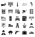 wrench icons set simple style vector image
