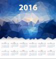 year calendar triangular design vector image