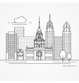 Independence Hall The symbol of Philadelphia USA vector image