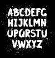 hand drawn ink brush latin alphabet vector image