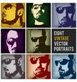 vintage portraits vector image