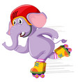 an elephant playing roller skate vector image vector image
