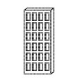 apartment building icon monochrome dotted vector image vector image