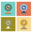 assembly flat icon computer webcam vector image vector image