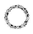 black fish symbol ball vector image vector image