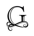 black letter g capital letter for monograms vector image vector image