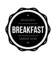 Breakfast vintage stamp vector image