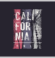 california only graphic t-shirt design vector image vector image