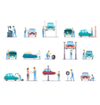 Car Repair Service Cartoon Icons Collection vector image vector image