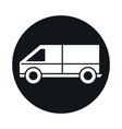 car van model transport vehicle block and flat vector image vector image