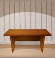 cartoon room wooden table vector image vector image