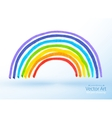 childlike drawing rainbow vector image vector image