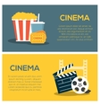 Cinema concept poster template vector image