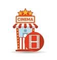 cinema movie ticket office film strip graphic vector image