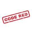 Code Red Text Rubber Stamp vector image vector image
