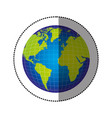 color earth planet map icon vector image vector image