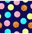 colorful basketball balls pattern vector image vector image