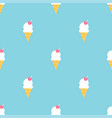 colorful ice cream summer seamless pattern vector image vector image