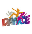 disco modern dance dancers vector image vector image