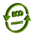 eco product isometric 3d isolated on white vector image