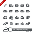 E mail icons basics vector | Price: 1 Credit (USD $1)