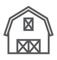 farm barn line icon farming and agriculture
