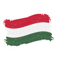 flag of hungary grunge abstract brush stroke vector image