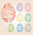 floral easter eggs with gradient - decorative vector image vector image