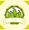 fresh natural fruit organic emblem design image vector image vector image