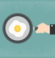 fried egg with dollar yolk vector image vector image