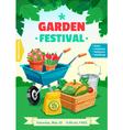 Garden Festival Poster vector image vector image