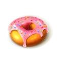 Glazed ring doughnut detailed vector image vector image