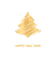 gold fir-tree christmas vector image vector image